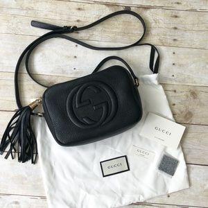 Black GUCCI Leather Soho Disco Bag EUC